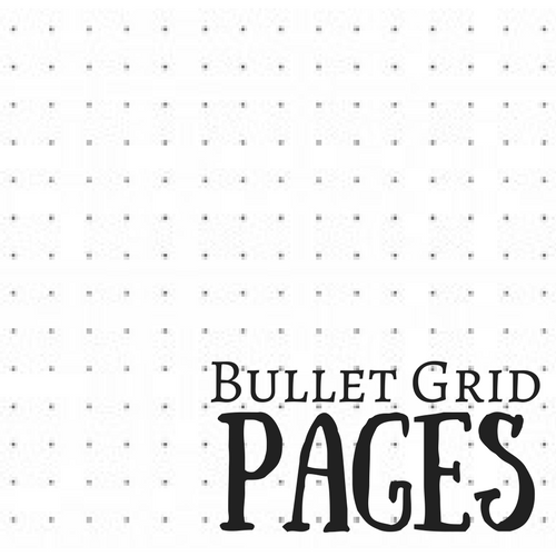 Chart Journal Bullet Grid Pages